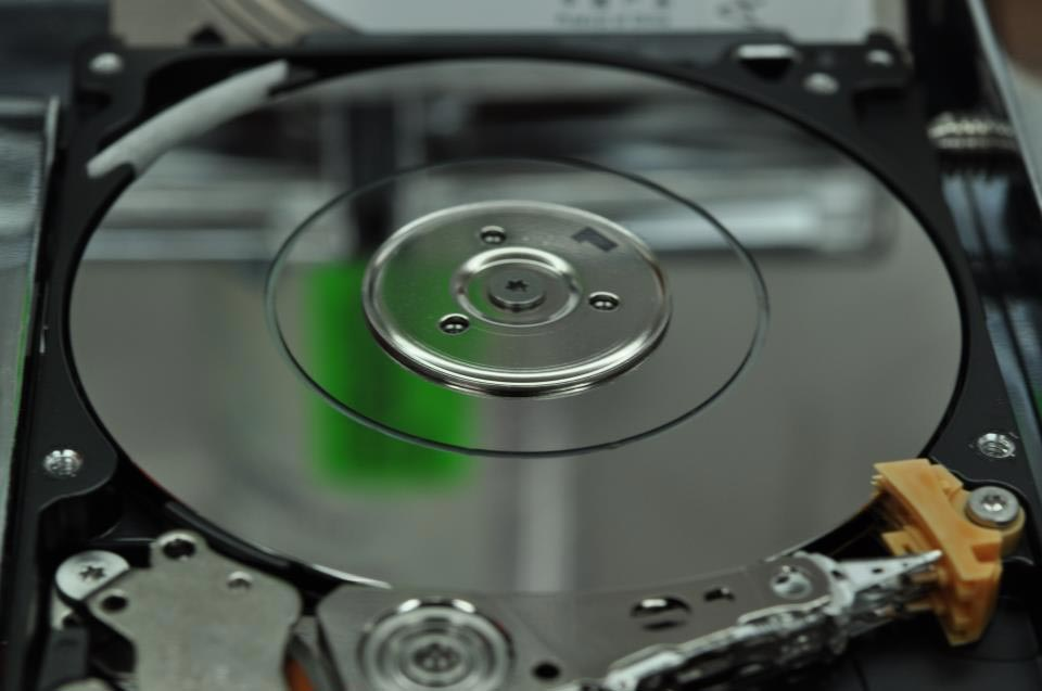 Head crash hard disk interno